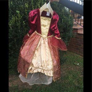 Other - Costume Red &Gold Velvet Dress NWT